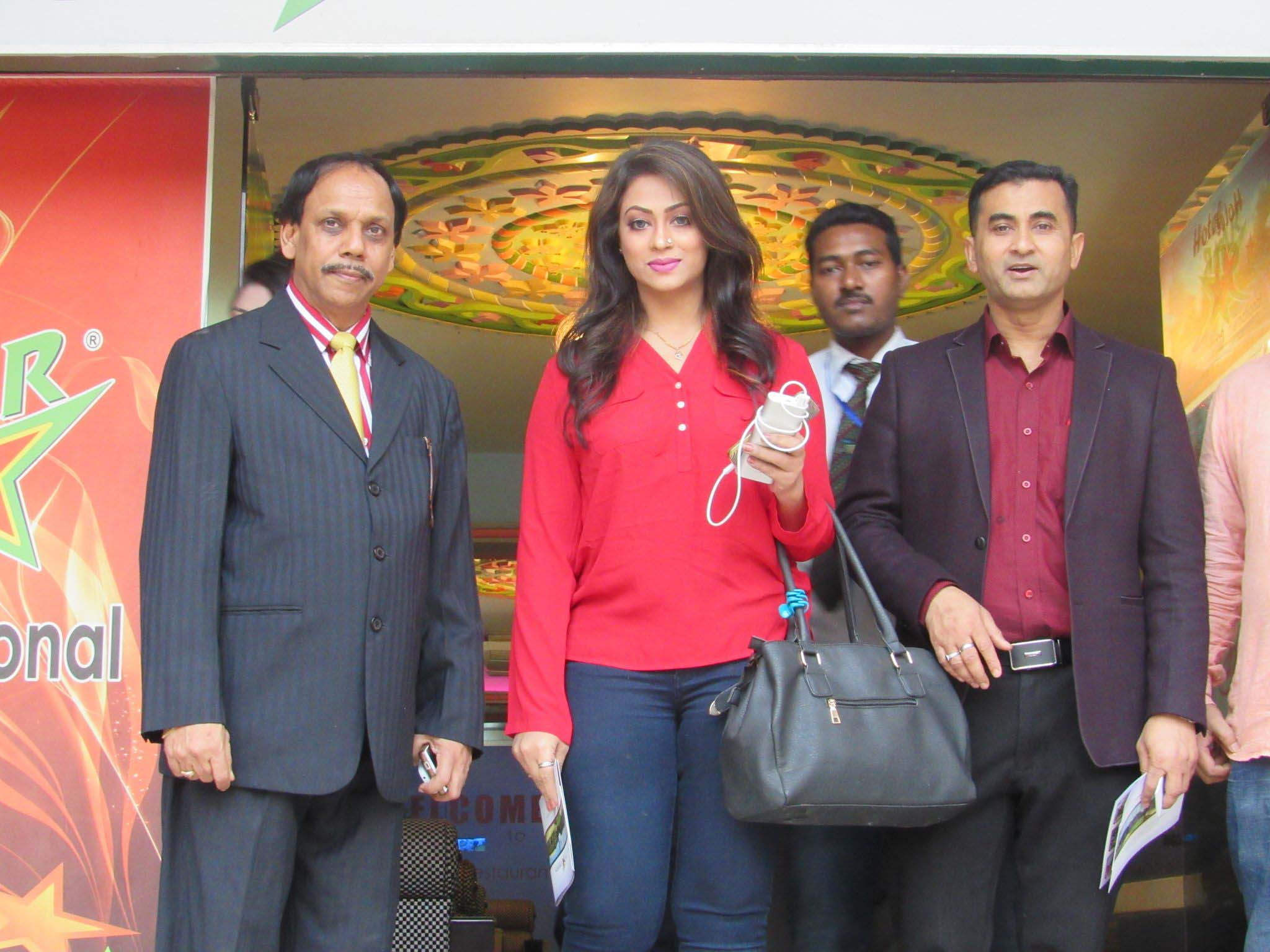 Actress Sadika Parvin Popy visited Hotel Star International for Bashundhara group program