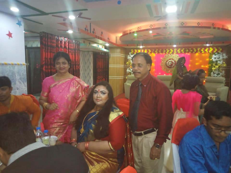 Dr Anika Fariha Zaman Aurna, Professor Shilpi Madam with our Chairman for Wedding Party